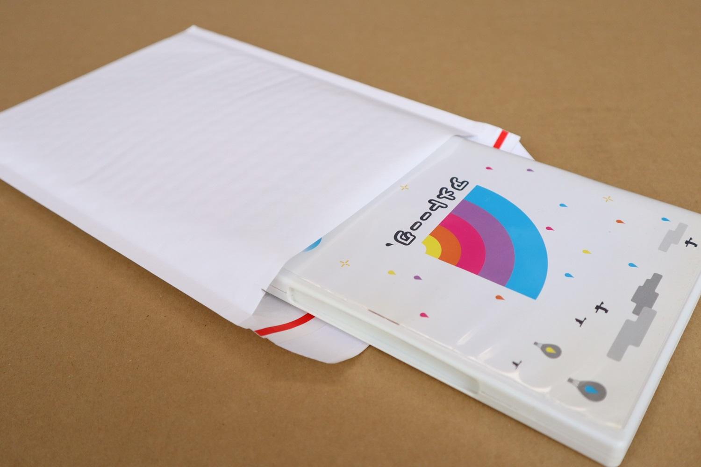【1箱(300枚)】(@17.10円)クッション封筒(DVD1枚・CD2枚用)