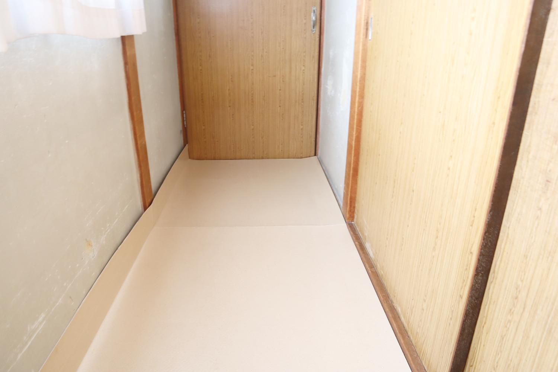 養生シート使用例廊下