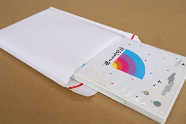 DVDをクッション封筒で梱包して安く発送する方法