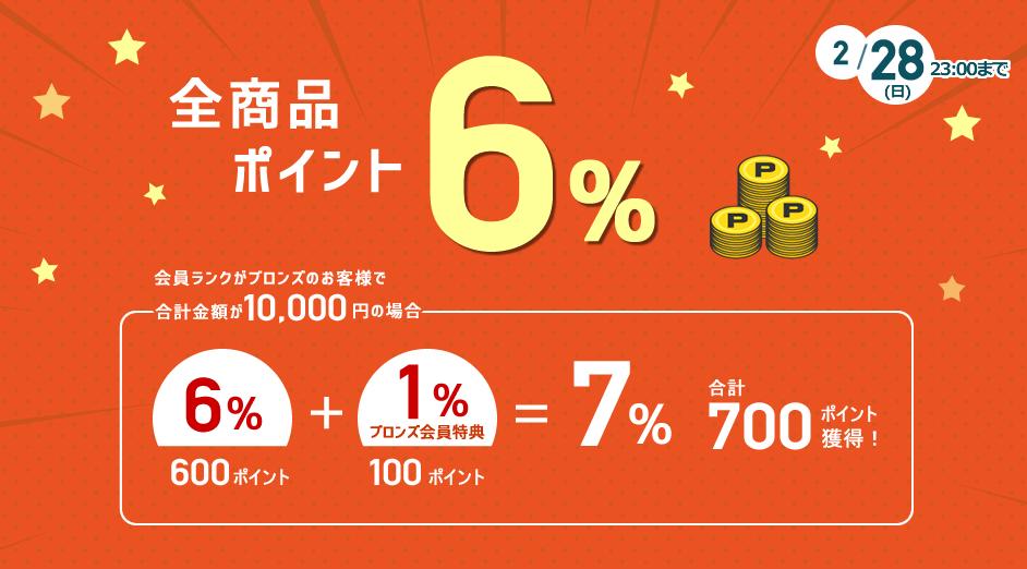 梱包緩衝材ポイント6%キャンペーン